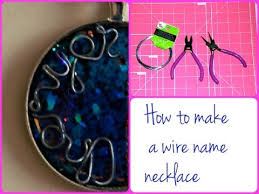 Wire Name Necklace Diy How To Make A Wire Name Necklace Pendant Tutorial Youtube