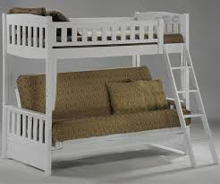 White Futon Bunk Bed Spices Collection Cinnamon Futon Bunk Bed In White
