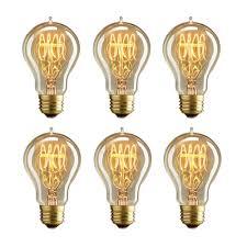 madking 60w a19 filament bulb with medium base e26 nostalgia