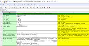 Event Planning Sheet Template G Suite Developers Automate Event Management Apps Script
