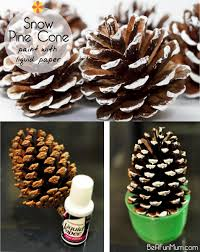 christmas craft painted pine cone be a fun mum