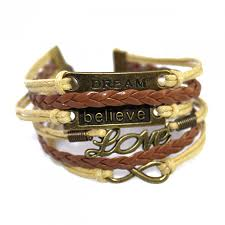 love braided bracelet images Dream believe love friendship braid leather wrap bracelet jpg