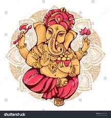Ganesh Puja Invitation Card Lord Ganesh Ganesh Puja Ganesh Chaturthi Stock Vector 384725752