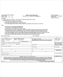 sample money order form 11 examples in word pdf