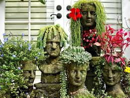Large Head Planters 13 Unusual And Upcycled Container Gardens Diy