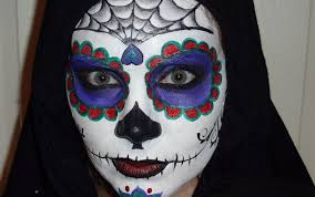 Halloween Skeleton Face Makeup by Sugar Skull Face Painting Tutorial Youtube