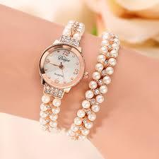pearl bracelet watches images Fashion brand watch bracelet women quartz watch gold pearl jewelry jpg