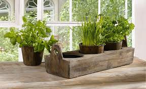 amazon com wooden garden plant tray three sectioned tray for