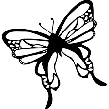 butterfly top view rotated to left icons free