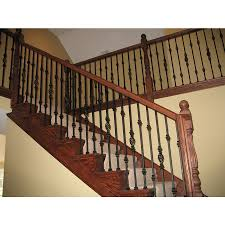 Lowes Stair Rails by Shop House Of Forgings Solid 44 In Satin Black Wrought Iron
