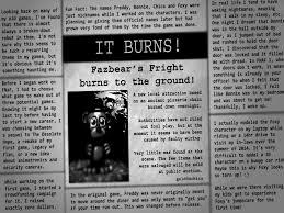 google wallpaper fnaf i re wrote the ending newspaper for fnaf3 by gold94chica on deviantart