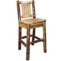 log dining chairs kitchen chairs bar stools rustic log