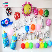balloon decorations mylar number letter multicolor letters happy birthday foil balloons silver gold children