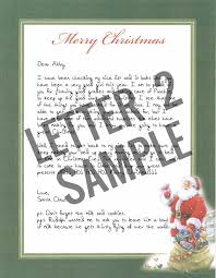 santa claus letters handwritten letters from santa claus authentic pole postmark