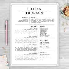 Best Template For Resume Professional Resume Template For Microsoft Word U0026 Mac Pages