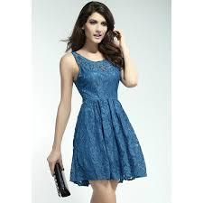 gorgeous blue lace skater dress on storenvy