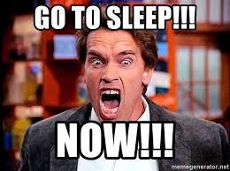 Go Sleep Meme - go to sleep now arnold scream meme generator