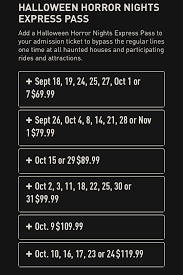 halloween horror nights pass hhn