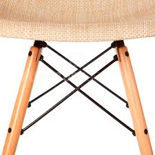 Eames Style Chair by Eames Style Mid Century Modern Special Edition Wood Leg Weave Dsw