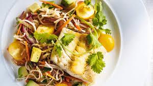 cuisiner vermicelle de riz poisson grillé et vermicelles de riz aux légumes de ricardo