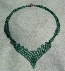 netted trellis necklace