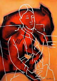 Madame Cezanne In A Red Armchair Dogfight U0027 Solo Exhibition Stefan Blom