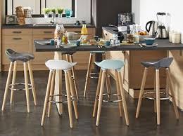 chaise de bar cuisine chaise de bar haute tabouret snack moderne en bois et synthétique