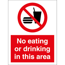 no eating or drinking in this area signs from key signs uk