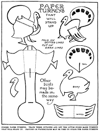 turkey template cut out for kids