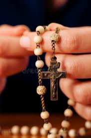 praying with rosary to god stock photo image of lonely