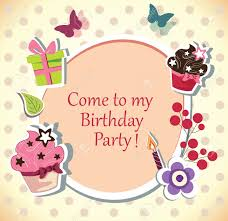 birthday party invitations birthday party invitation card royalty free cliparts vectors and