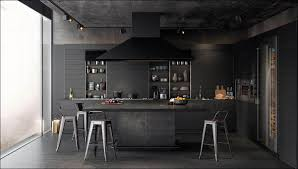 modern black kitchens kitchen kitchen countertop concrete high gloss small white