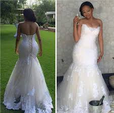 lace mermaid wedding dresses real picture 2016 white lace mermaid wedding dresses plus size