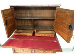 bureau secr aire bois bureau secrétaire louis xvi marqueterie fleurs bois de bout marbre