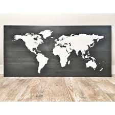 World Map Wall Decor by Huge Large Rustic Wood World Map Rustic Decor Farmhouse Decor