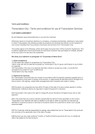 Production Supervisor Job Description For Resume by Terms And Conditions Transcription City Typing Services