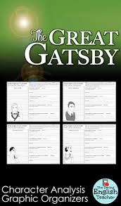 the great gatsby character analysis graphic organizers american