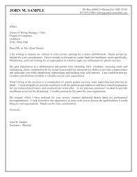 sample cover letter for volunteer position sample internship cover letters gallery cover letter ideas