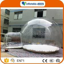Transparent Tent Funny Camping Tent Clear Inflatable Bubble Tent With Tunnel For