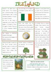 english teaching worksheets ireland