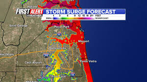 Jacksonville Florida Map by Storm Surge Impacts Could Be Historic Wjax Tv