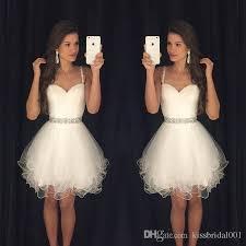white 2016 short prom dresses modest graduation homecoming dresses