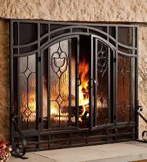 Ideas Fireplace Doors Great Fireplace Screens With Doors Ideas Fireplace Screens With