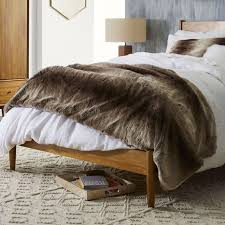 West Elm Bedroom Sale Faux Fur Ombre Oversized Throw Mocha West Elm