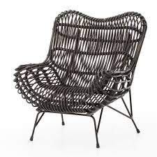classic chair cowan modern classic black metal wicker chair kathy kuo home