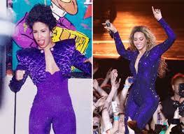 selena quintanilla purple jumpsuit beyonce selena quintanilla blue jumpsuit 0823 400 0