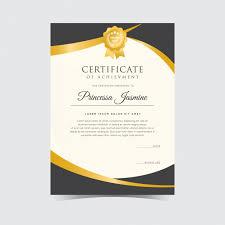 golden certificate template vector free download