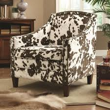 cowhide accent chair modern chairs quality interior 2017