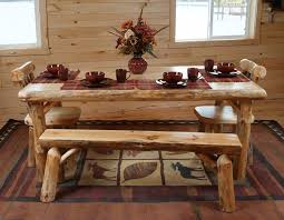 Log Dining Room Tables Pine Dining Room Table