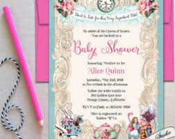 best collection of mad hatter baby shower invitations 2017